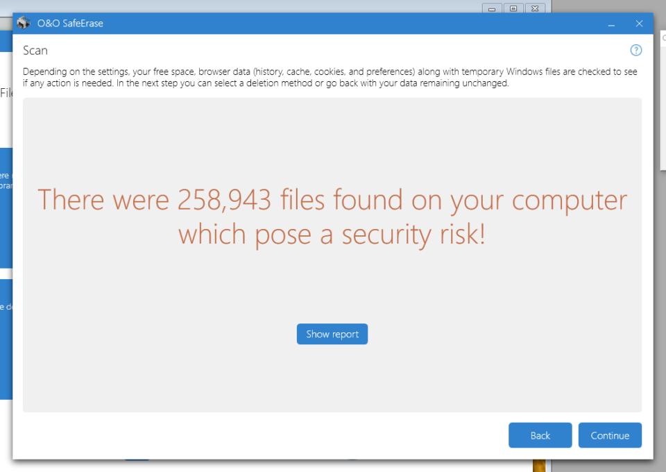 258 943 filer som utgör säkerhetshot? Det är inte rimligt.