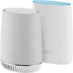 De två enheterna täcker tillsammans in ett större område än vad en ensam router klarar.