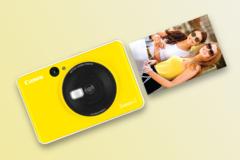 Bilderna matas ut på kamerans ena kortsida.
